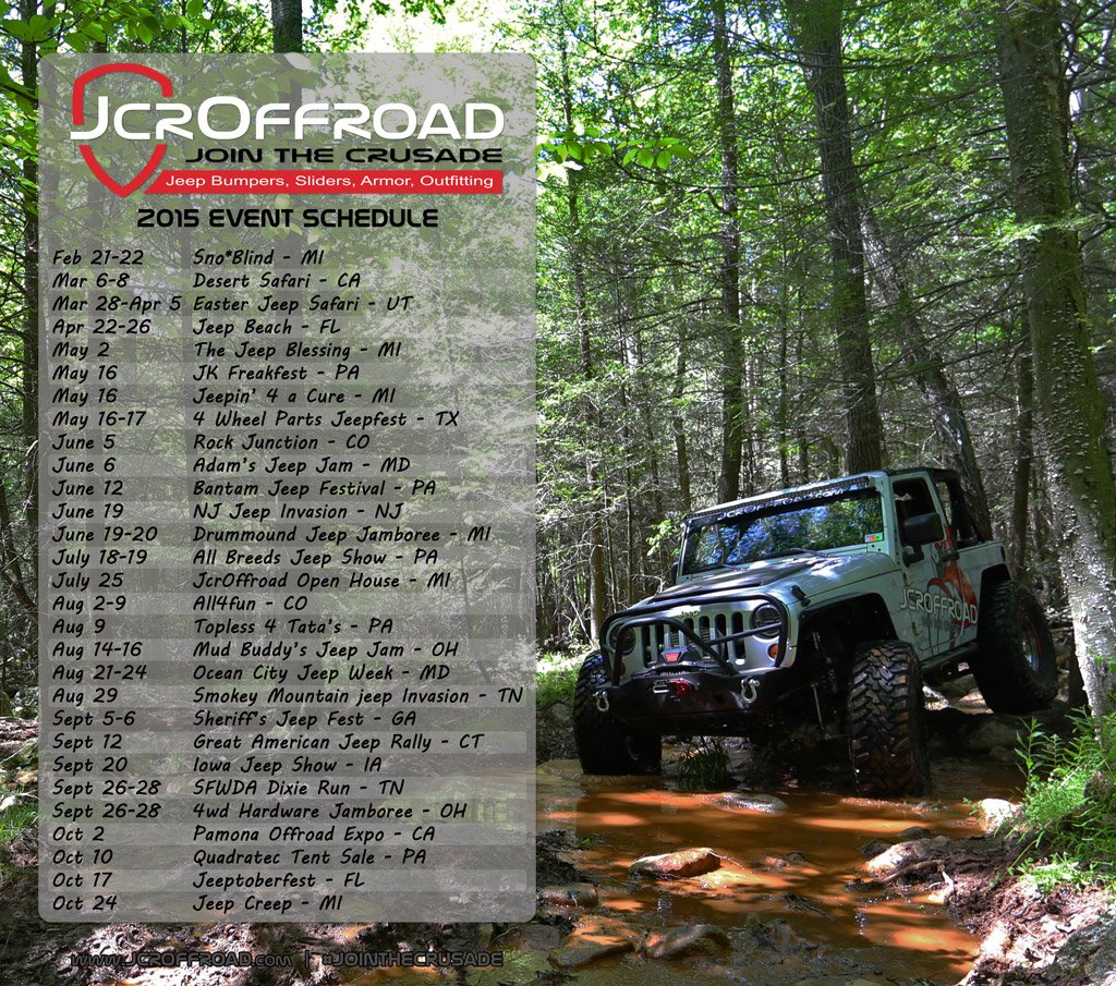 JcrOffroad 2015 Event Schedule