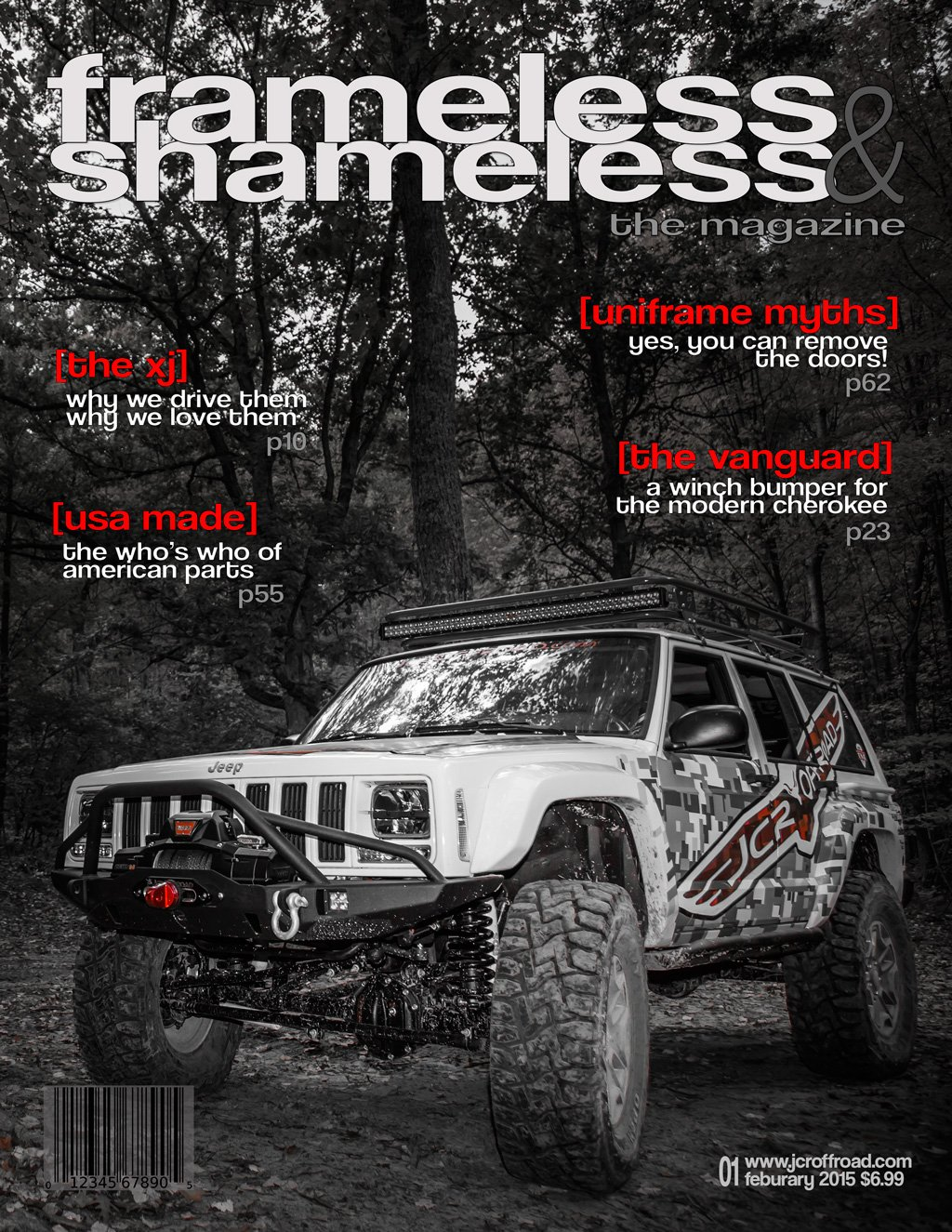 JcrOffroad's Real Hawk Posing for a Mock Magazine Cover. Frameless and Shameless